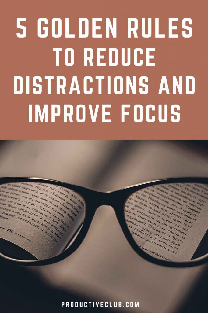 improve focus and concentration avoid distractions