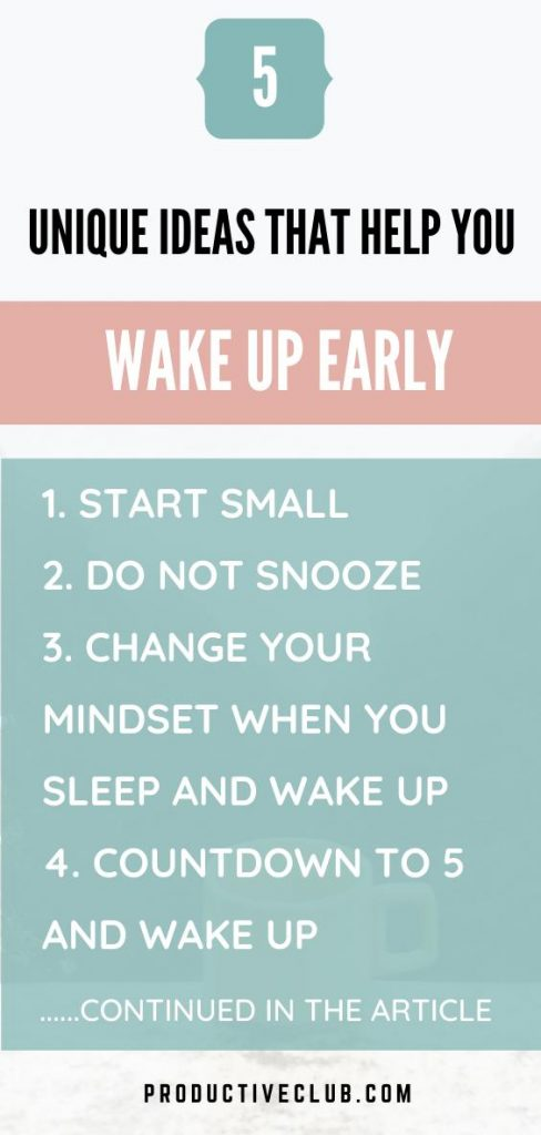 how to wake yourself up