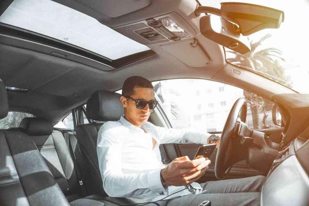 Driving and texting