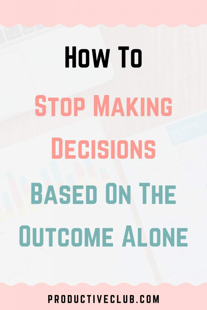 how to make decision cognitive bias
