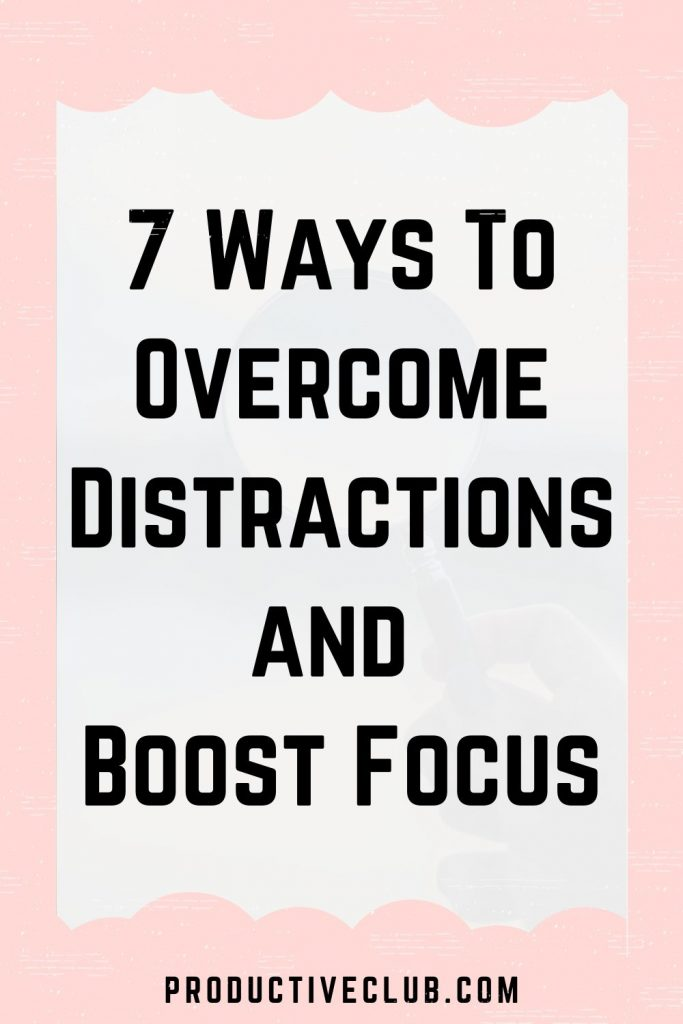 improve focus and concentration