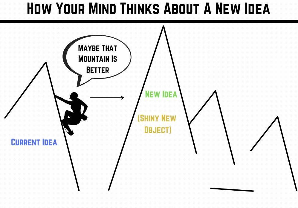 How your mind thinks about a new shiny object
