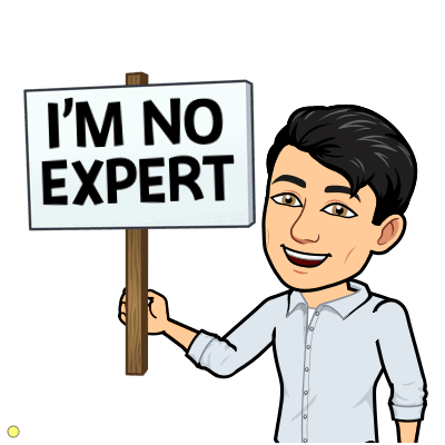 Disclaimer that you are not an expert
