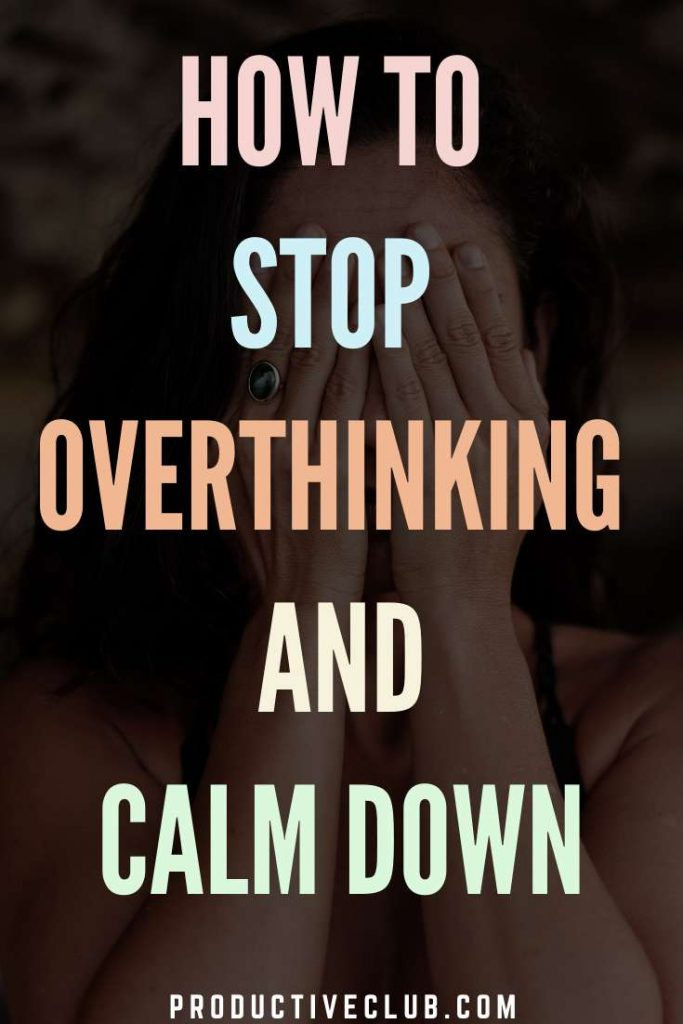 dont overthink relieve stress mental wellness