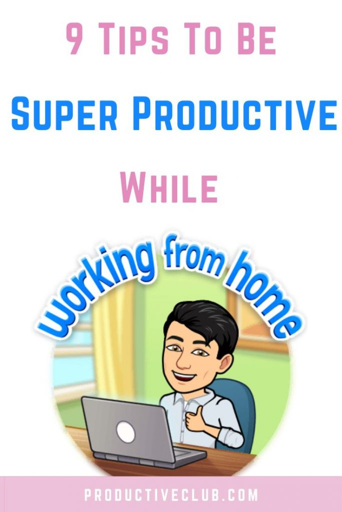 productivity working from home focus at work career advice