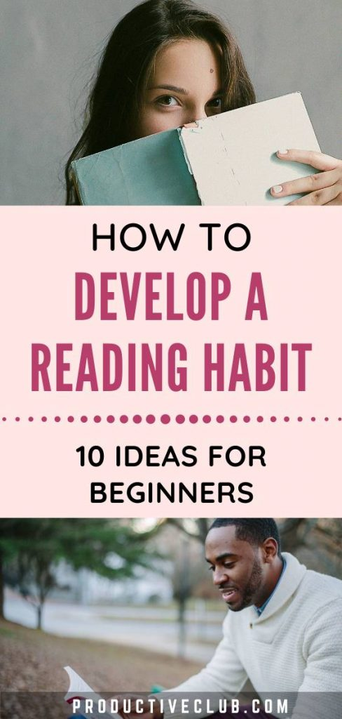 how to develop reading habits books