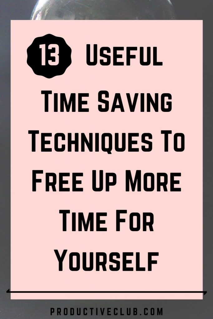 how to manage time techniques