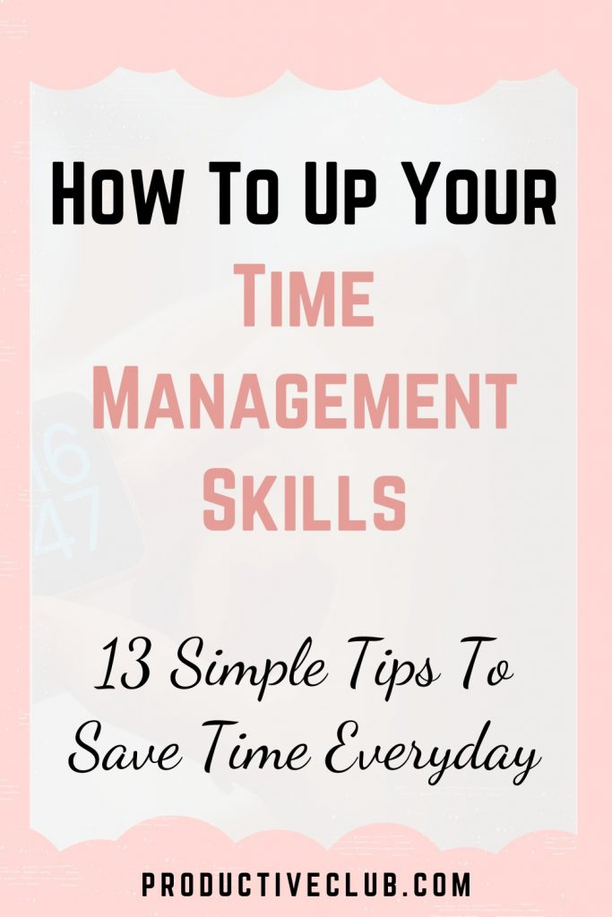 time management tips wasting time
