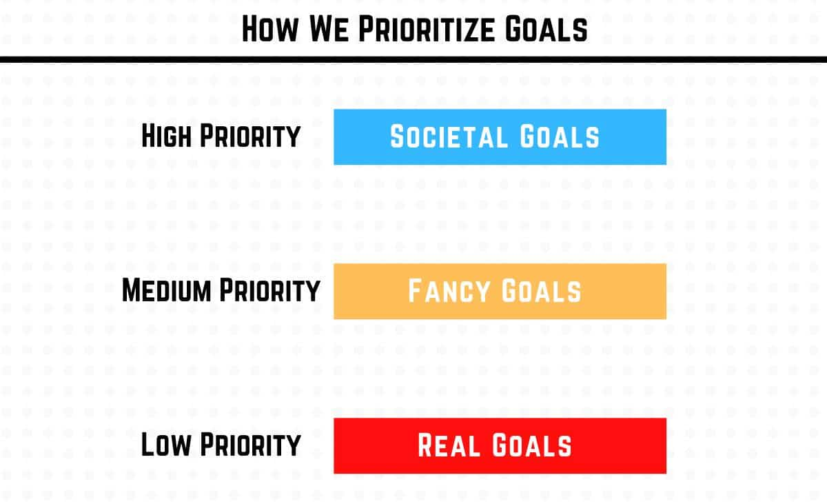 wrong order of goal prioritization