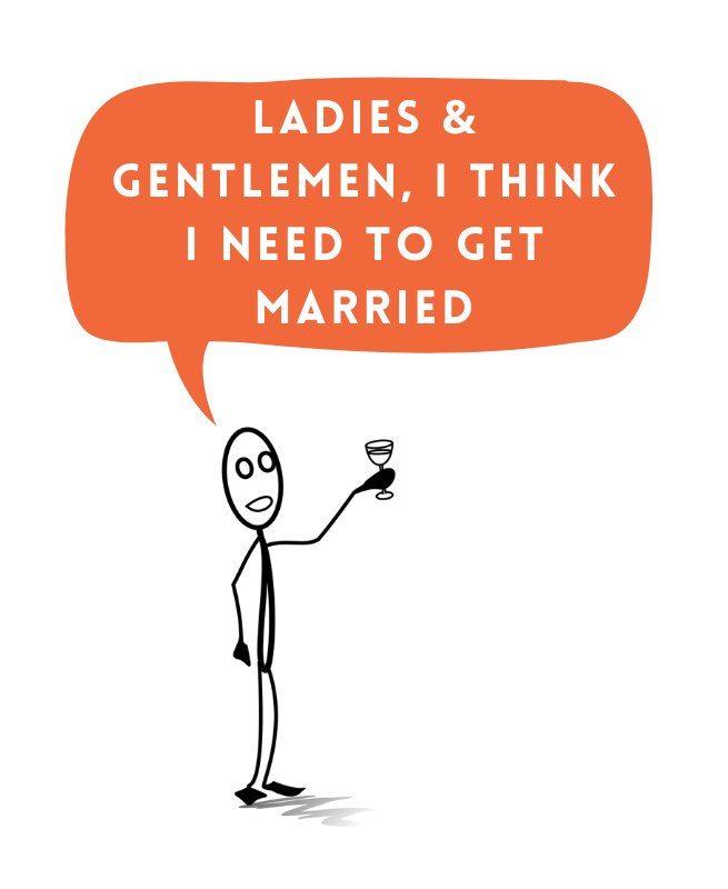 man deciding to get married